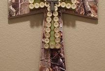 wooden crosses