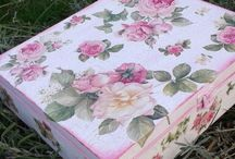 decoupage box / Romantic decoupage box