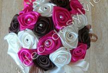Les Bouquets de Mariée / Bouquets de Mariée en satin réalisés par Ladecodesylvie