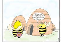 Honey bee comics