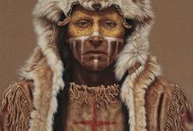 WARRIOR SOCIETIES / Among many Native American Tribes, warriors belonged to different societies. These were decided through a number of ways; dreams, chosen by someone already in a society, age, and bravery.