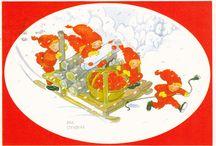 AINA STENBERG / AINA STENBERG-MASOLLE  1885-1975. Ruotsalainen taiteilija.  Hän on tuottanut tuhansia malleja Joulu, Pääsiäis ja Uuden vuoden kortteja.