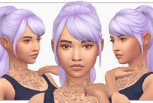 Sims 4 CC MM Hair