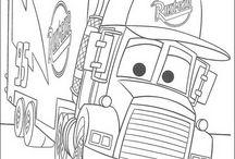 Camion, trattori e Peppa...da colorare / by Pupattola