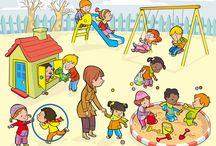 çocukça / Oyun, clipart, eğlence, boyama