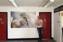 Behind the Scenes at White Tree Studio with Tony O'Connor / Tony O'Connor Art Studio www.whitetreestudio.ie