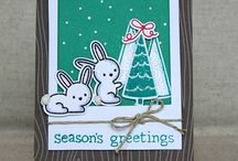 ❄️Christmas Card Ideas⛄️ / For some inspiration when it comes to make my Christmas cards. Love Lawn Fawn stamps❤️