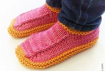 Knit Slippers / by Karen Strauss