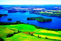 """Mazurian Lakes / Located in north eastern part of Poland, the Mazurian Lake District is also often called """"A land of a thousand lakes."""" The lakes are connected by a network of rivers and canals which are great for canoeing, windsurfing, swimming and sailing."""