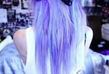 °•°•°•°•°•Perf hair!!!! / From bright red to royal blue , this dyed hair is just perf!!