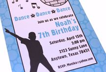 Nicholas 8th bday glow in the dark dance party / Ideas for Nicholas' 8th bday party