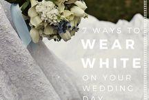 AND THE BRIDE WORE WHITE / #brideswearwhite