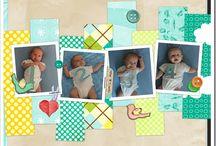 Baby scrapbook pages inspiration / by Jennifer Goodman Darbison
