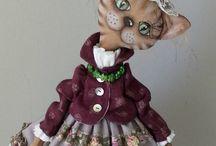 Кошки: куклы, игрушки,рисунки