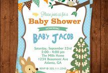 Baby Shower Woodland creatures