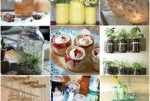 Jars...bottles... etc. / Fun ways to use jars, bottles.... / by Lisa Malone