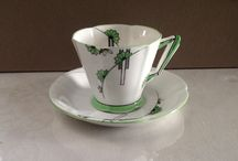 Art Deco teacups / The Art Deco period saw very unique teacup designs. Here are a few.