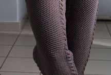 Knitted shorts, trousers and skirts