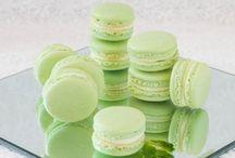 Mint Macarons w/ white ganache