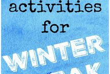 Winter Fun / Looking for fun winter activities to do with the kids, your family, or friends? I've found a few goodies.