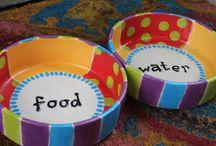 ceramic pet dish