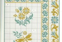 cross stitch two or more colors