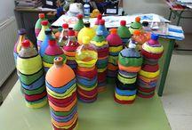 Colorful Recycled Garden / Proyecto de jardinería decorativa con grupos de ESO bilingües en el IES Torre de Águila.  Profesora  responsable del proyecto: Rocío Salvador.