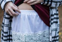 Waist skirt to lengthen tops , / Pretty lace shows below,