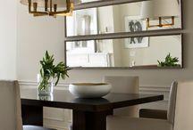 espelho na sala de jantar