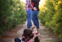 Tree farm photo shoot