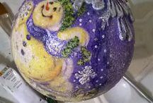 Новогодние шары ручной работы