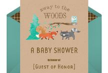 Baby shower / Forest animal themed stuff!!
