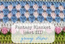 Crochet Fantasy/Stripy Blanket