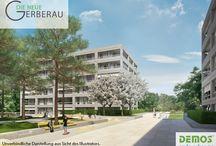 """Neu ⌂ DIE NEUE GERBERAU / Im Projekt """"DIE NEUE GERBERAU"""" erwarten euch attraktive und moderne 2- bis 5-Zimmer-Eigentumswohnungen in München-Allach."""