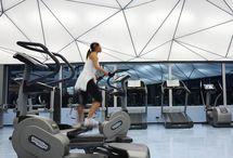 Ceiling light in fitness
