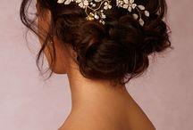 свадебное в волосы