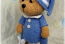 Bears and other toys crochet
