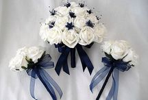 Wedding flowers fall blue