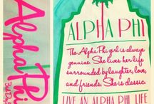 Sorority Girl Problems / Alpha phi / by Ashley Fitzgerald
