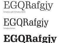Sans Typefaces / Inspiration