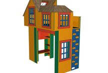 Чердак-кровать / Детская игровая мебель. Конструктор https://vk.com/constructor_online