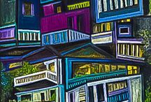 "Cityscapes  September 2015 / Contemporary Art Gallery Online's September Art Competition Entitled ""Cityscapes"""