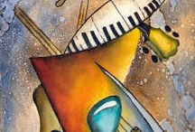 paintings musical instruments