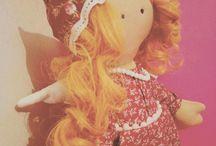 текстильные куклы и игрушки ручной работы