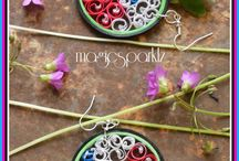 Quilling jewellery / http://magicsparklz.blogspot.in/