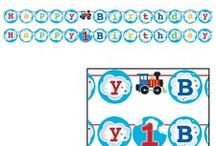 Train Party Ideas and Decorations / Choo Choo! Throw an exciting train party for your junior conductor Here are some great Train theme party ideas and a collection of our most popular Train Party Supplies, which can also be found at http://www.ezpartyzone.com/cat-train-1st-birthday-party-supplies.cfm.