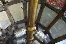 Restauración farol de bronce / Farol de bronce y cristal  #restauracionlamparas #restauraciondelamparas #lamparas #arañasdecristal  #lamparasclasicas