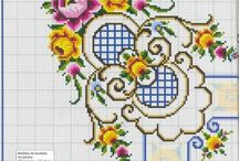 cross stitch for table