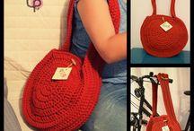 Crochet bags // Torebki szydełkowe / wykonane w pracowni Pif Paf Puf/ made in Pif Paf Puf workshop  Torby i torebki robione ręcznie na szydełku z bawełnianego sznurka bądź przędzy spaghetti // Handmade crochet bags from cotton twine or yarn spaghetti.