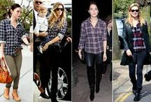 Celeb Style, Plaid Shirts / Take some inspiration from the fashion elite and grab your plaid shirt from our seasonal sale!